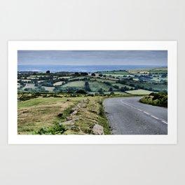 Dartmoor National Park | Devon, south of England |view of the landschape | Fine art landscape photography Art Print