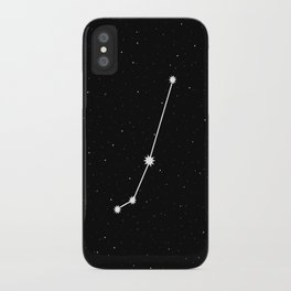Aries Star Sign Night Sky iPhone Case