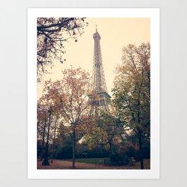 paris winter Art Print