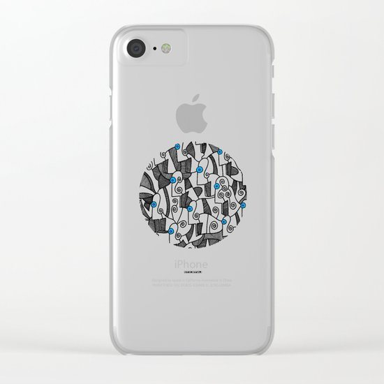 - fresque_02 - Clear iPhone Case