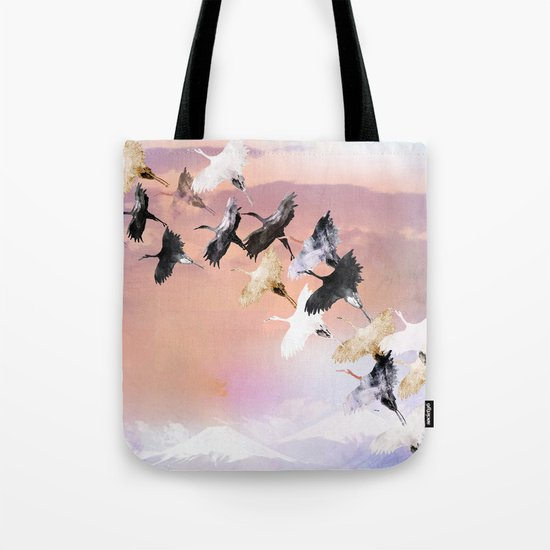 Japanese cranes Tote Bag