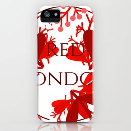 Red London iPhone Case