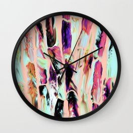 Marbling Sugarcane Peach Wall Clock