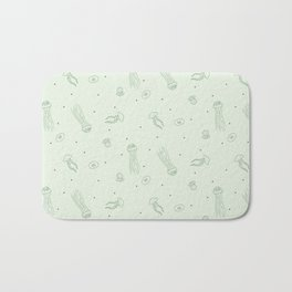 Jellyfish in Green Bath Mat