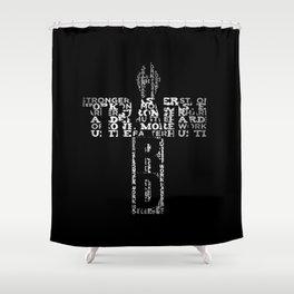 Fitness Weight Training Bodybuilding - Train hard Shower Curtain
