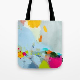 pink hill with sun ray Tote Bag