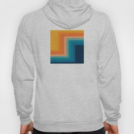 Retro 70s Color Lines Hoody