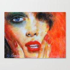 Title: Pastel Portrait - Orange Passion Canvas Print