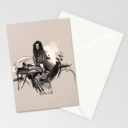 triumph with girl Stationery Cards