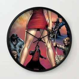 Dracula vs. Robin Hood vs. Jekyll & Hyde Wall Clock