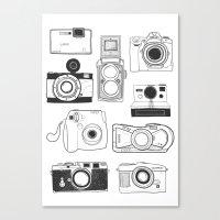 cameras Canvas Prints featuring Cameras by lusym