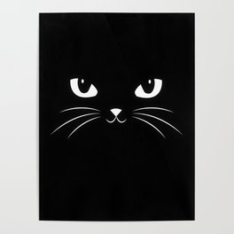 Cute Black Cat Poster