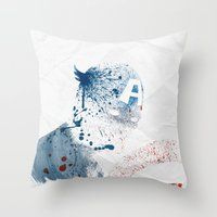 soldier Throw Pillows featuring The Soldier by Arian Noveir