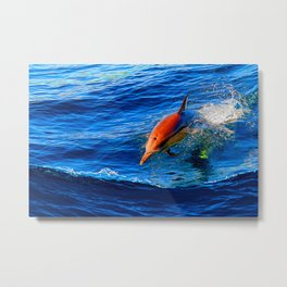 Racing The Boat Metal Print