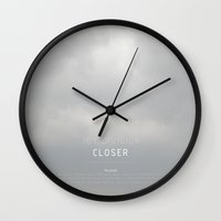 joy division Wall Clocks featuring Joy Division - Closer (FACT 25) by ahutchabove