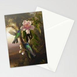Sparkling Violetear Hummingbirds Stationery Cards