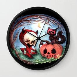 Halloween Devil Skellie Wall Clock