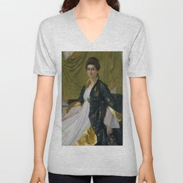 "Sir William Blake Richmond ""Portrait of Mrs. Ernest Moon"" Unisex V-Neck"