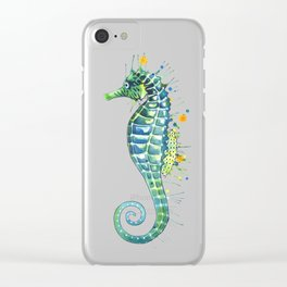Seahorse: Green Clear iPhone Case