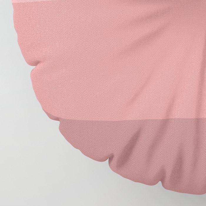 Minimal Retro Sunset / Sunrise - Warm Pink Floor Pillow