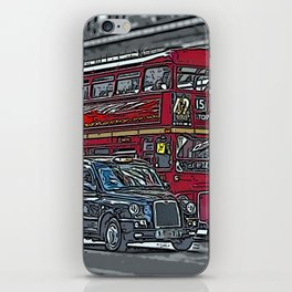 London bus and cab iPhone Skin