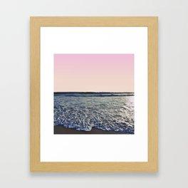When The Waves Kiss The Shore Framed Art Print