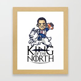 Tom Brady - king of the north Framed Art Print