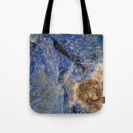 Lapis lazuli texture up close Tote Bag