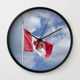 Maple Leaf Flag Wall Clock
