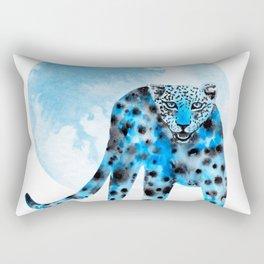 Ink leopard on white Rectangular Pillow