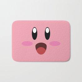 Kirby face illustration Bath Mat