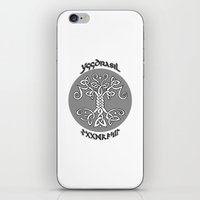 vikings iPhone & iPod Skins featuring Yggdrasil, Vikings by ZsaMo Design