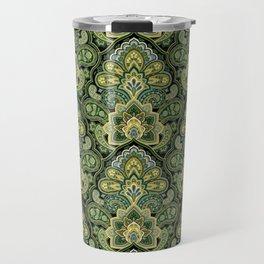 Green and Blue Paisley Travel Mug
