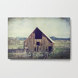 Weathered Barn Metal Print