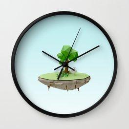 Low Poly Bunny Island Wall Clock