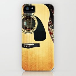 Heart Strings By Inez Benoit - My Guitar Gently Weeps iPhone Case