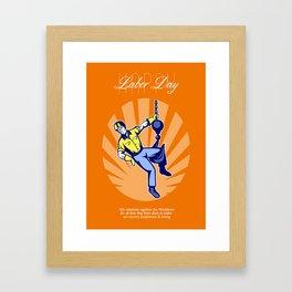 Celebrating Our Workforce Labor Day Greeting Card Framed Art Print