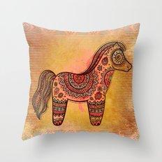 Ceremonial Indian Horse Throw Pillow