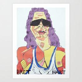Bret Hart Paper & Glue Art Print
