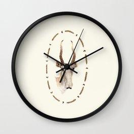 The Saiga Antelope Wall Clock