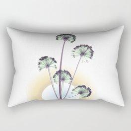 black and white flower wallpaper and the sun 2, Home Decor, botanical prints framed Rectangular Pillow