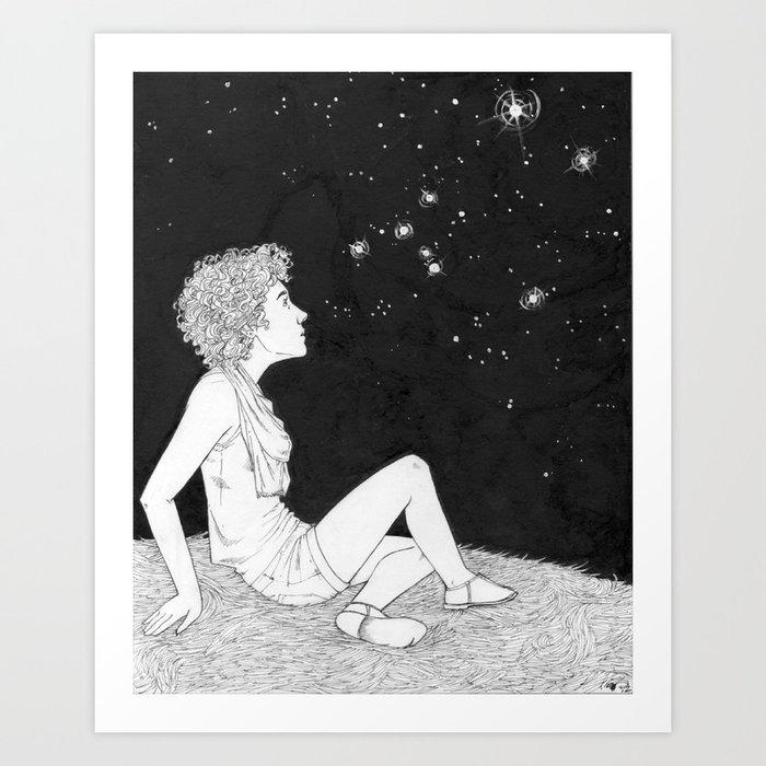 They Just Blink at Us (Sirius) Art Print