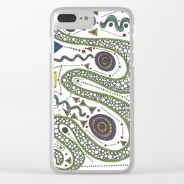 Shimmering Serpentine Clear iPhone Case