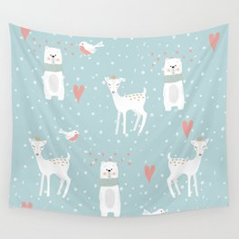 Fawn and Bear Wall Tapestry
