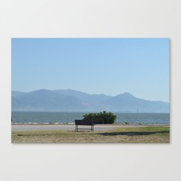 Sit, look at the Sea Canvas Print