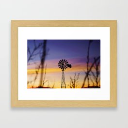 Panhandle Windmill Framed Art Print