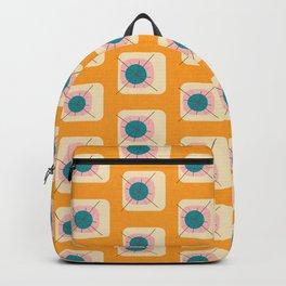 Flower Eggs Yellow Backpack