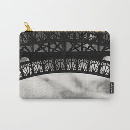Black Lace of Eiffel Tower Carry-All Pouch