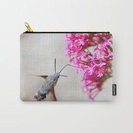 Hummingbird Hawk moth on Valerian flower Carry-All Pouch