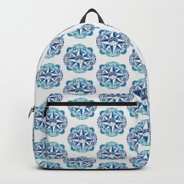 Journey to Moon Mountain | Turquoise Navy Ombré Backpack